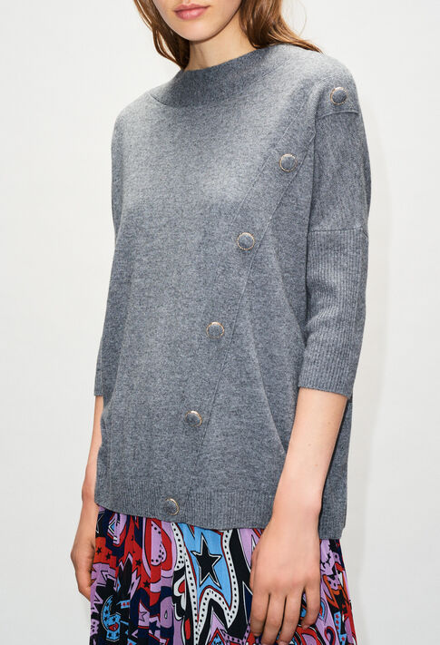 MARYH19 : Knitwear & Cardigans color GRIS CHINE FONCE