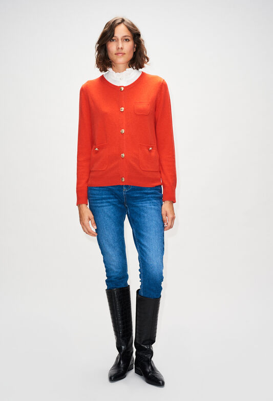 MILLYH19 : Knitwear & Cardigans color ORANGE