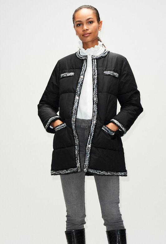 GRIOH19 : Coats & Jackets color BLACK