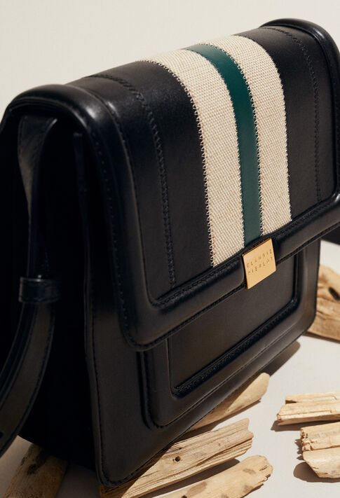ANGELA STRIPES : Bags & Leather Goods color Noir