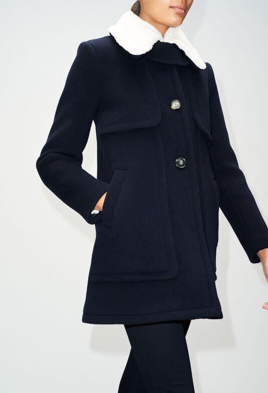 GUSTAVEH19 : Coats & Jackets color NAVY