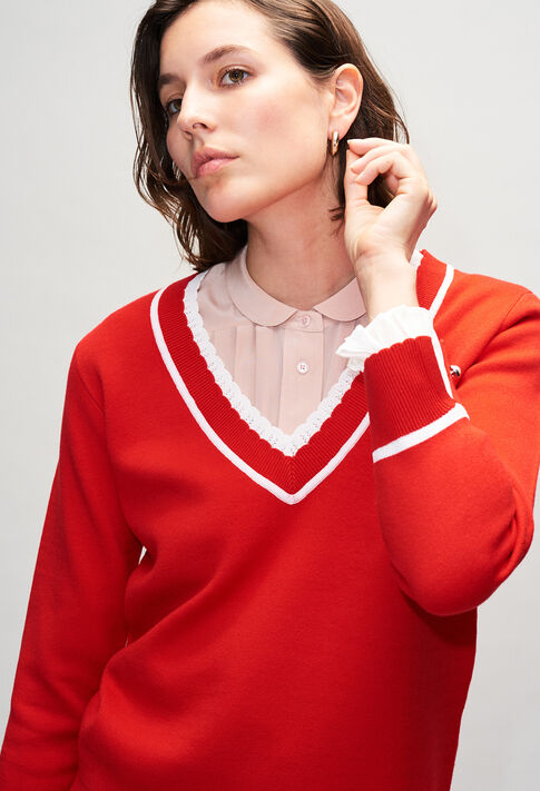 MAKYH19 : Knitwear & Cardigans color RED
