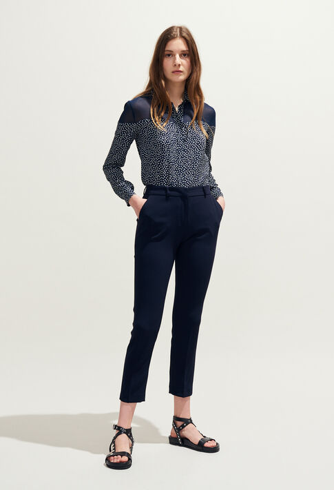 POUSSIN : Jeans & Pants color Navy