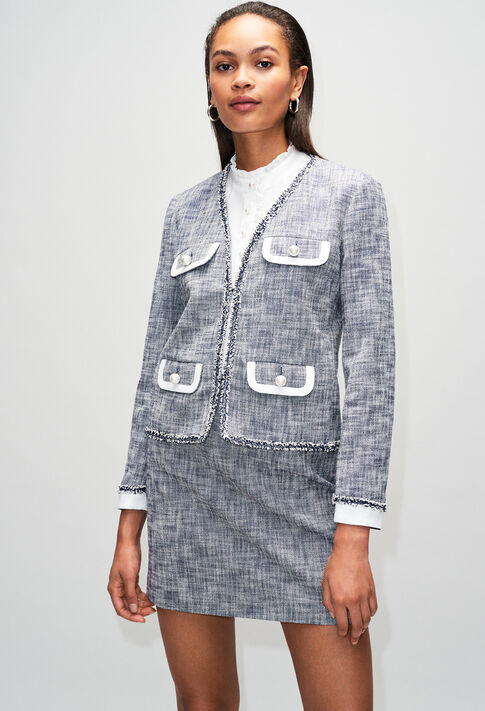 VIRGILAH19 : Blazers color CHAMBRAY FONCE - SHIRTING
