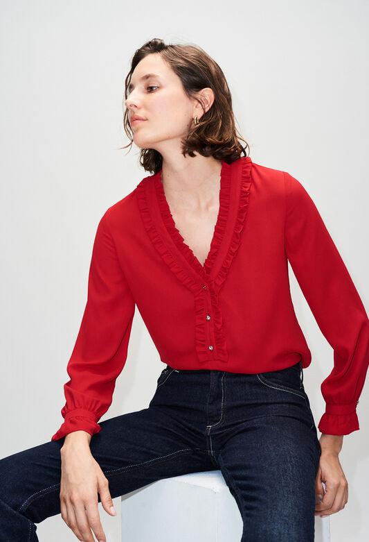 BUSINESSH19 : Tops & Shirts color COQUELICOT