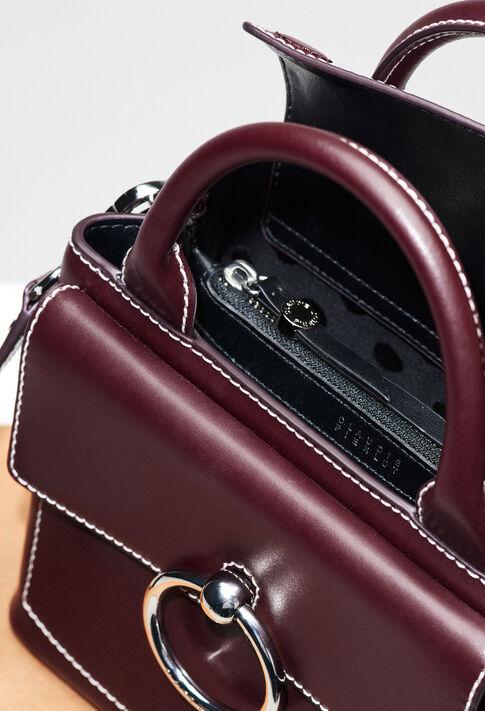 ANOUCKSMALLSADDLESTITCHH19 : Bags & Leather Goods color Carmin