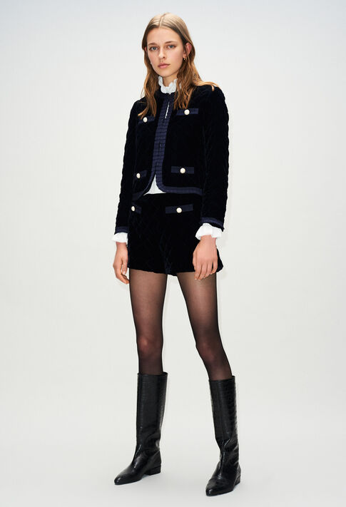 VELOUTEH19 : Blazers color NAVY