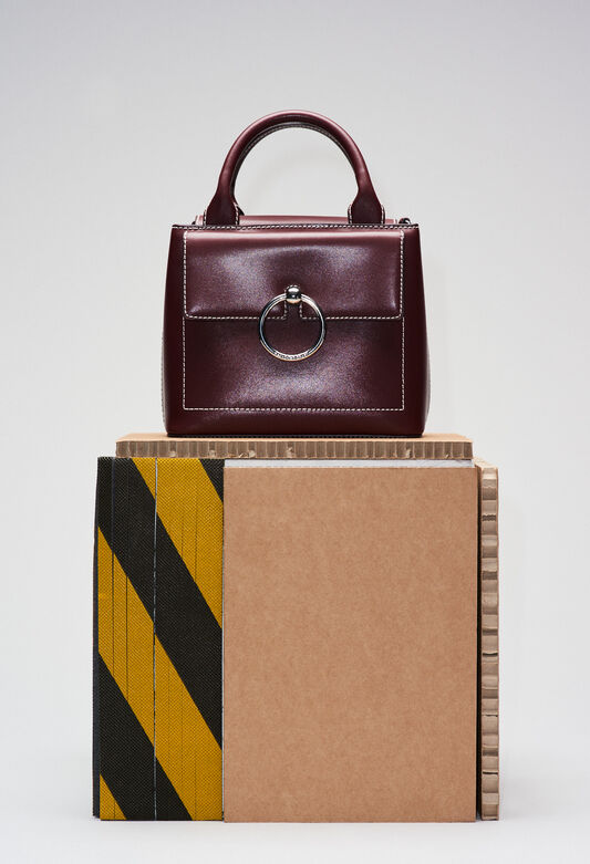 ANOUCKSMALLSADDLESTITCHH19 : Bags & Leather Goods color CARMIN