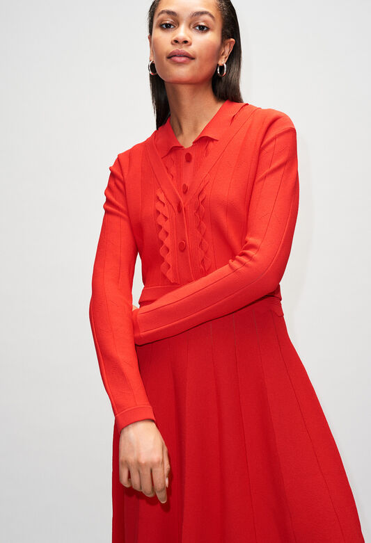 MIMMAH19 : Knitwear & Cardigans color ROUGE