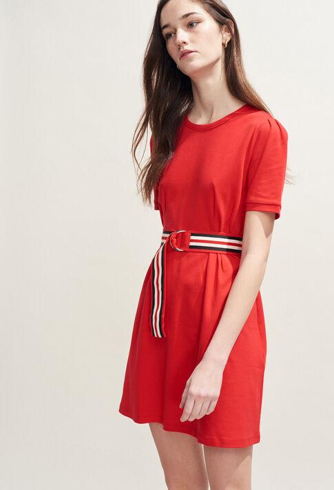 TIMINI : Dresses color Ecarlate