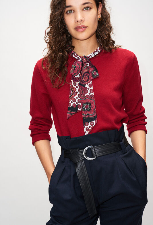 MERINAH19 : Knitwear & Cardigans color CERISE