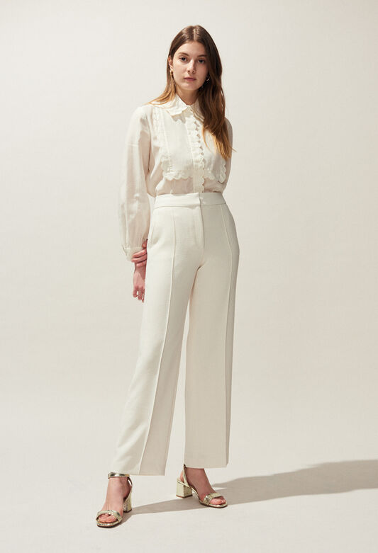 POURPRE BIS : Jeans & Pants color IVOIRE