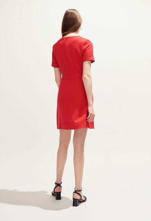 REYA : Dresses color Ecarlate