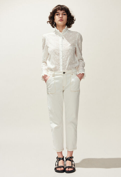 COLOMBE BRODEE : 30% off color Ecru