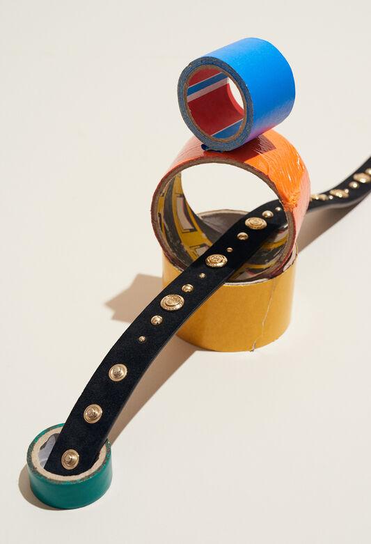 AVEGAS STUD : Belts color Black