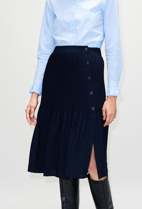 SHADEH19 : Skirts & Shorts color NAVY