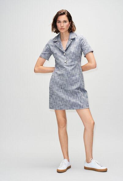 RINOH19 : Dresses color CHAMBRAY FONCE - SHIRTING