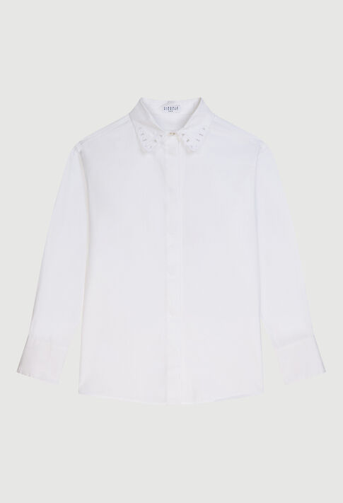 CHAOE20 : Tops & Shirts color BLANC
