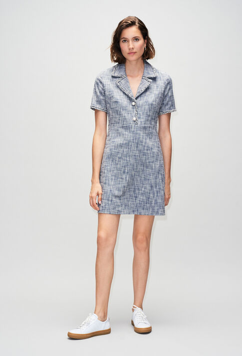 RINOH19 : Dresses color CHAMBRAY FONCE - SHIRTING