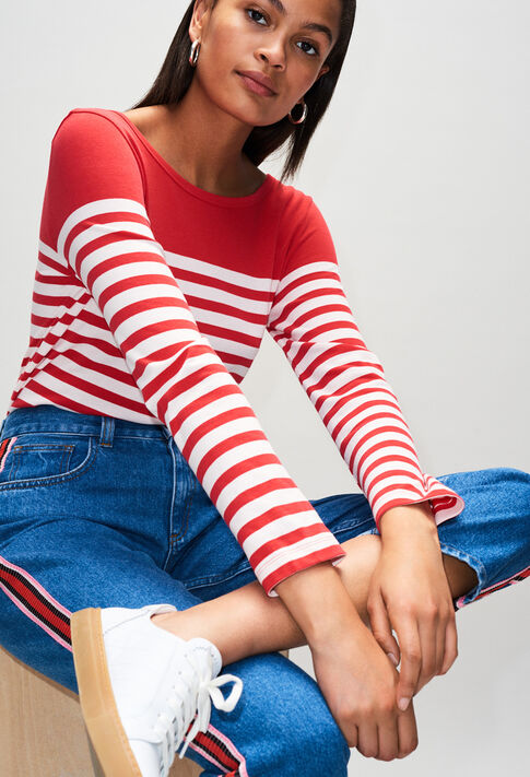 TROCADH19 : T-shirts color ROUGE