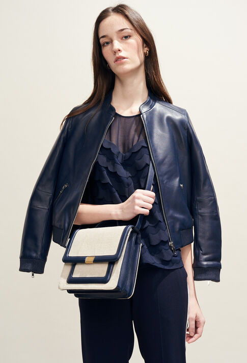 ANGELA CANVAS : Bags & Leather Goods color Off White