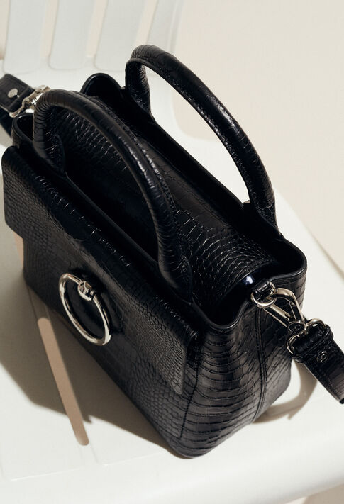 ANOUCK SMALL REPTILE CROCO : Outlet color Black