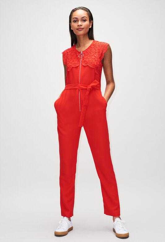 JAMIEH19 : Jeans & Pants color ROUGE