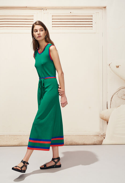 MELISSE : Dresses color VERT VEGETAL
