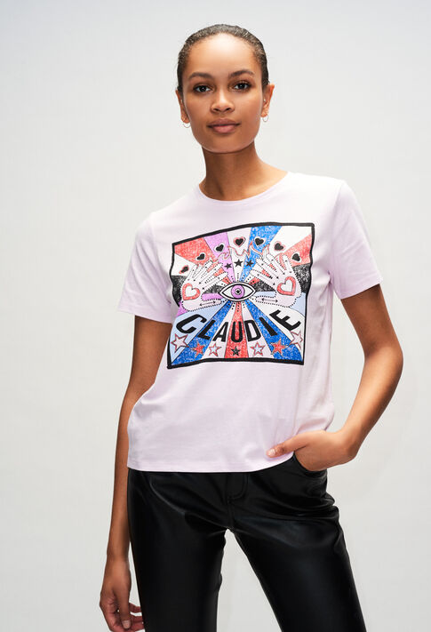 TOSHINEH19 : T-shirts color LILAS
