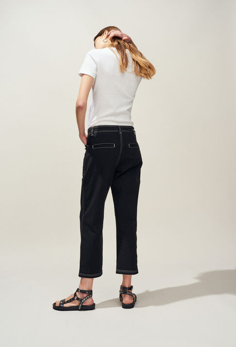 PECHE : Jeans & Pants color Black