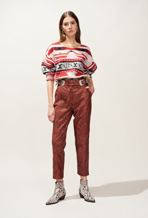 CRANBERRY : Jeans & Pants color PYTHON
