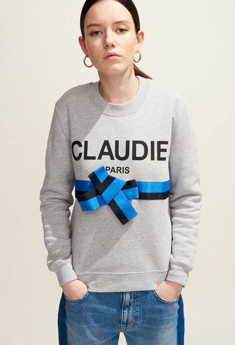 TRADI : Knitwear & Sweatshirts color Mottled Grey