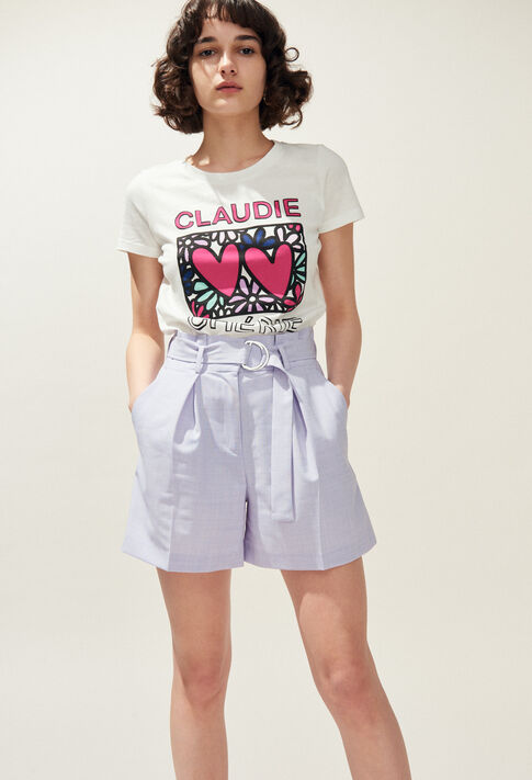 TIAMO : T-shirts color Ecru