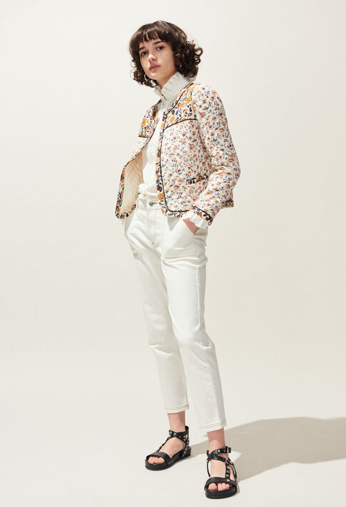 PECHE : Jeans & Pants color Ecru