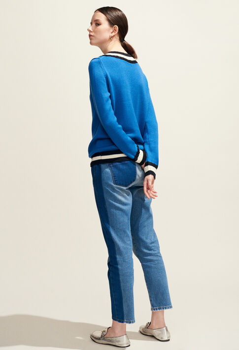 MIKE : Knitwear & Cardigans color Bleuet