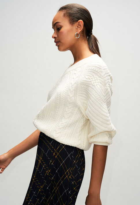 MATHURINH19 : Knitwear & Cardigans color ECRU