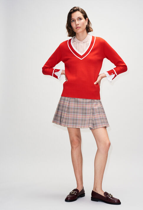 MAKYH19 : Knitwear & Cardigans color ROUGE