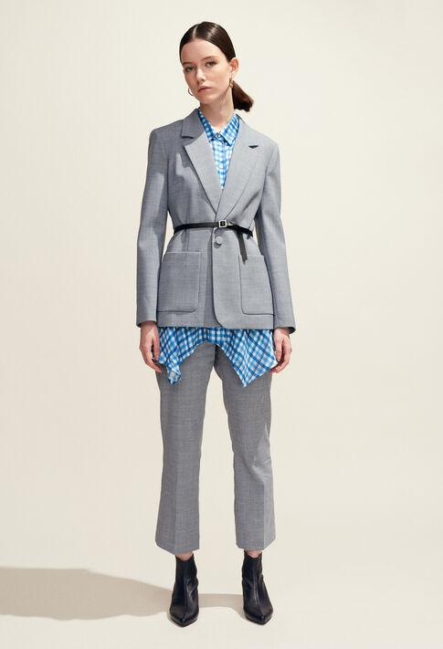 POPULAIRE : Jeans & Pants color Mottled Grey