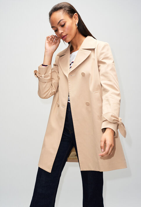 GENZIANAH19 : Coats & Jackets color BEIGE