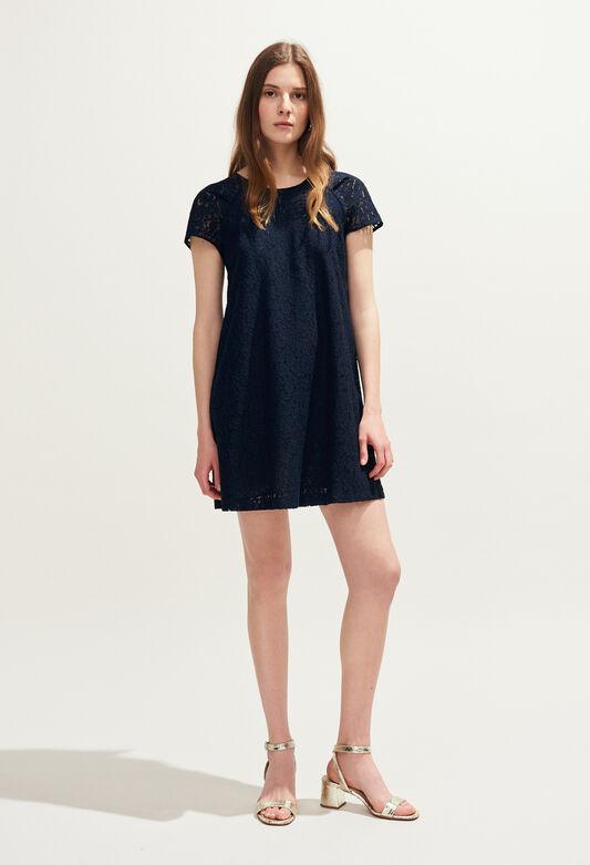 RADIEUSE DENTELLE : Dresses color Navy