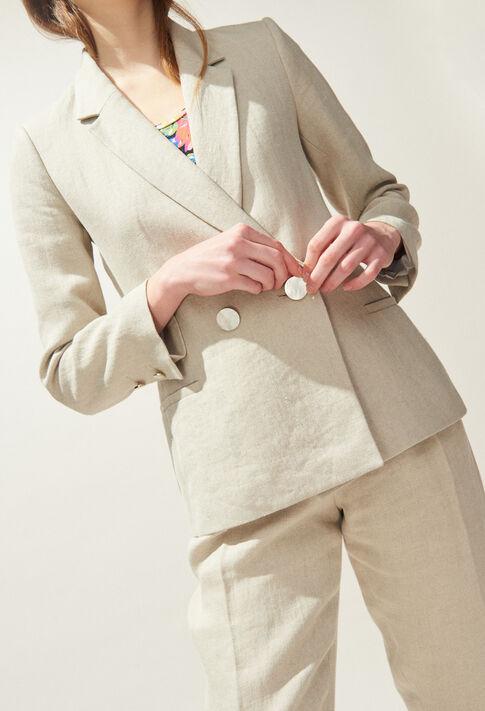 VALOR : Manteaux et Blousons Nouvelle co color NATUREL
