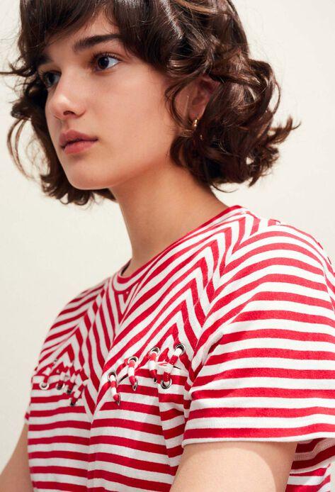 TOSCANE : T-shirts color Ecarlate