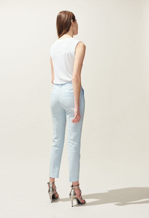 PATEL : Jeans & Pants color Ice Blue