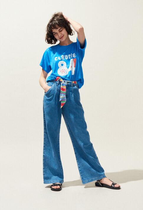 TALLY : T-shirts color TRANSAT BLUE