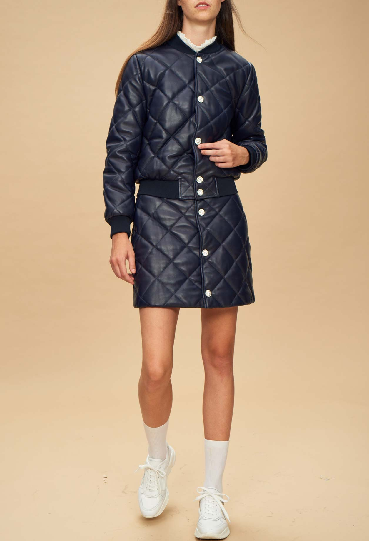 Night to Class Out: Quilted Mini Skirt exclusive photo