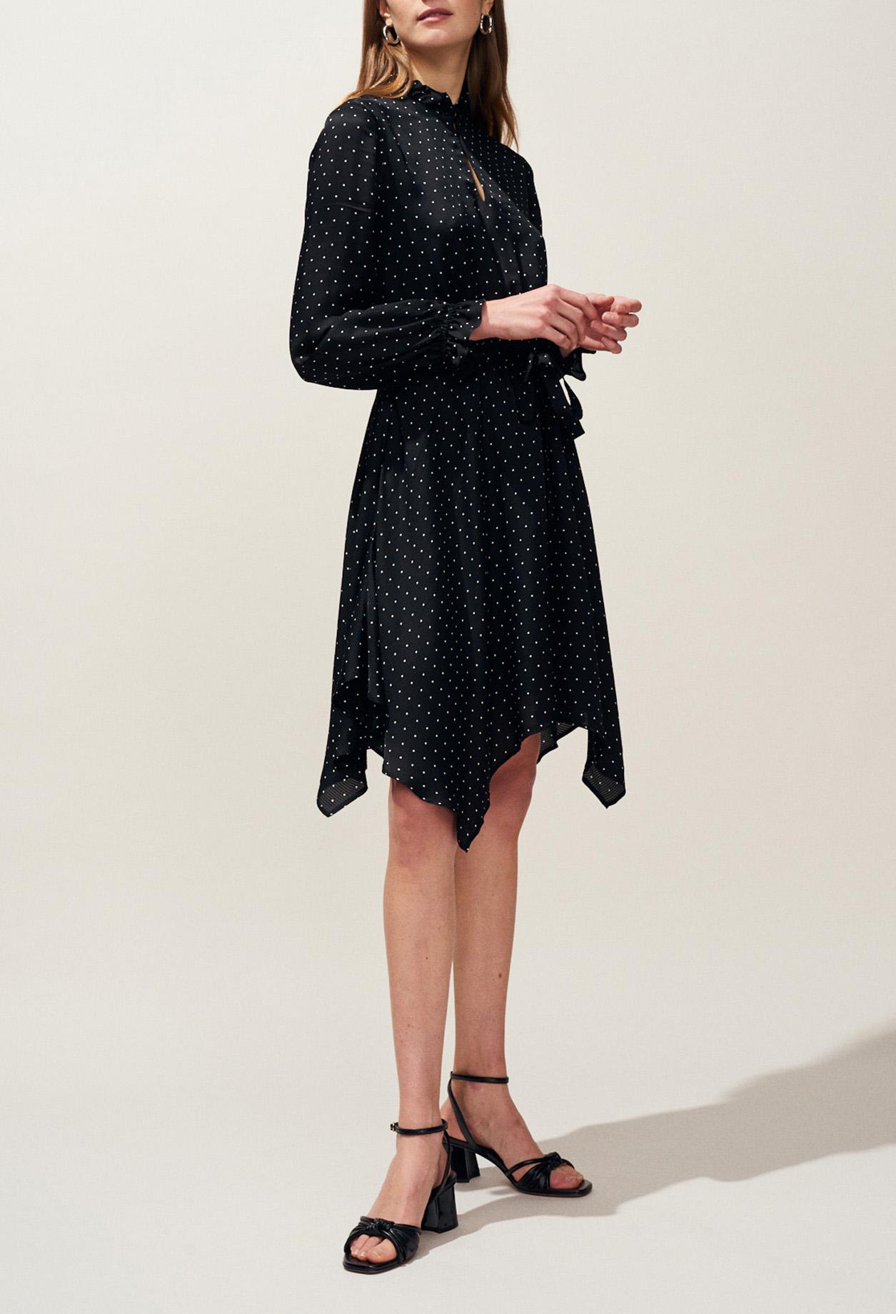 9cb23e1addf2 Black And White Polka Dot Dress Uk | Saddha