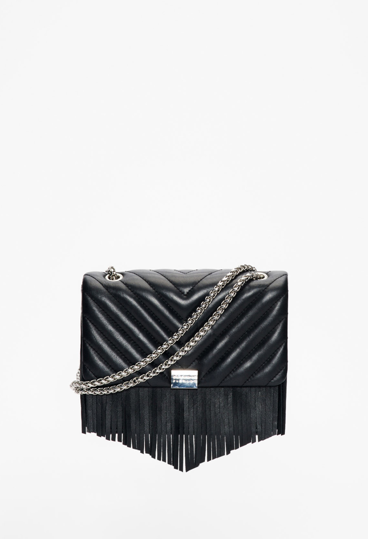 Leather tassle bag