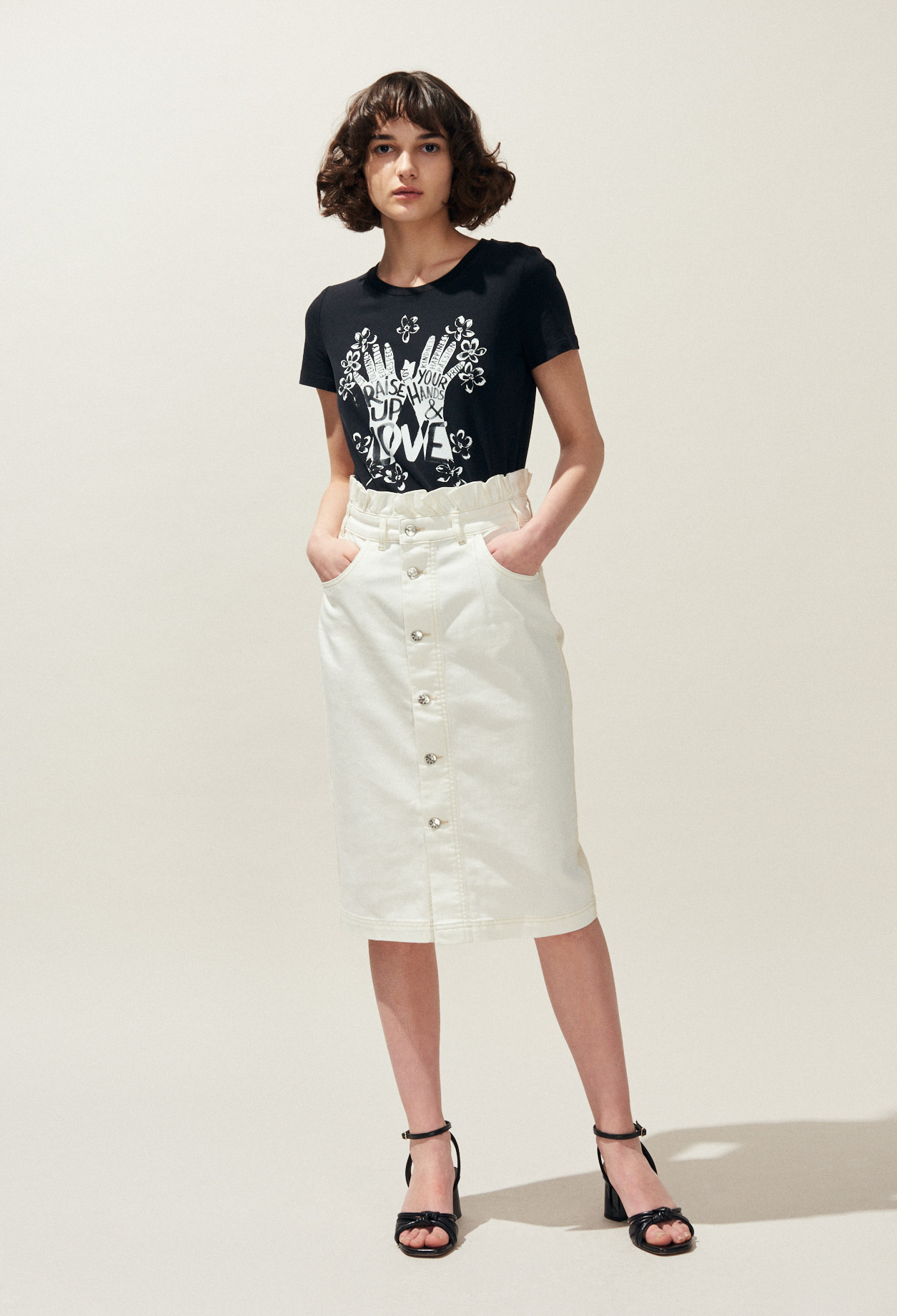 e80f1f410b Denim Midi Skirt Shopstyle